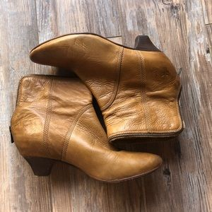 Frye zippered ankle booties